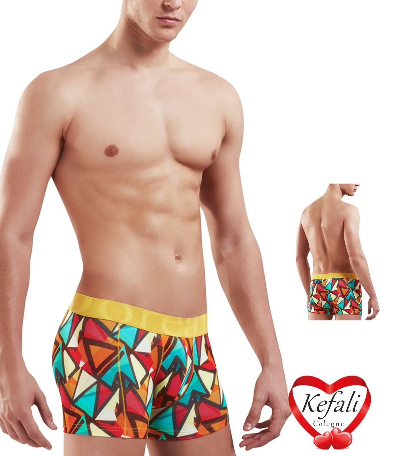 DOREANSE UOMO Retroshorts Boxershorts Trunk Pantaloncini Hipster PANTS printed M-XL
