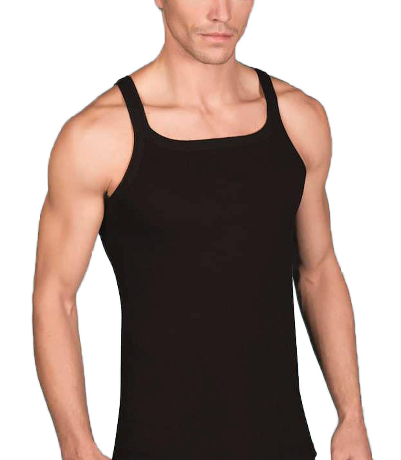 Modernes Ripp Unterhemd Rippshirt Baumwoll Tanktop Achselshirt Muskelshirt