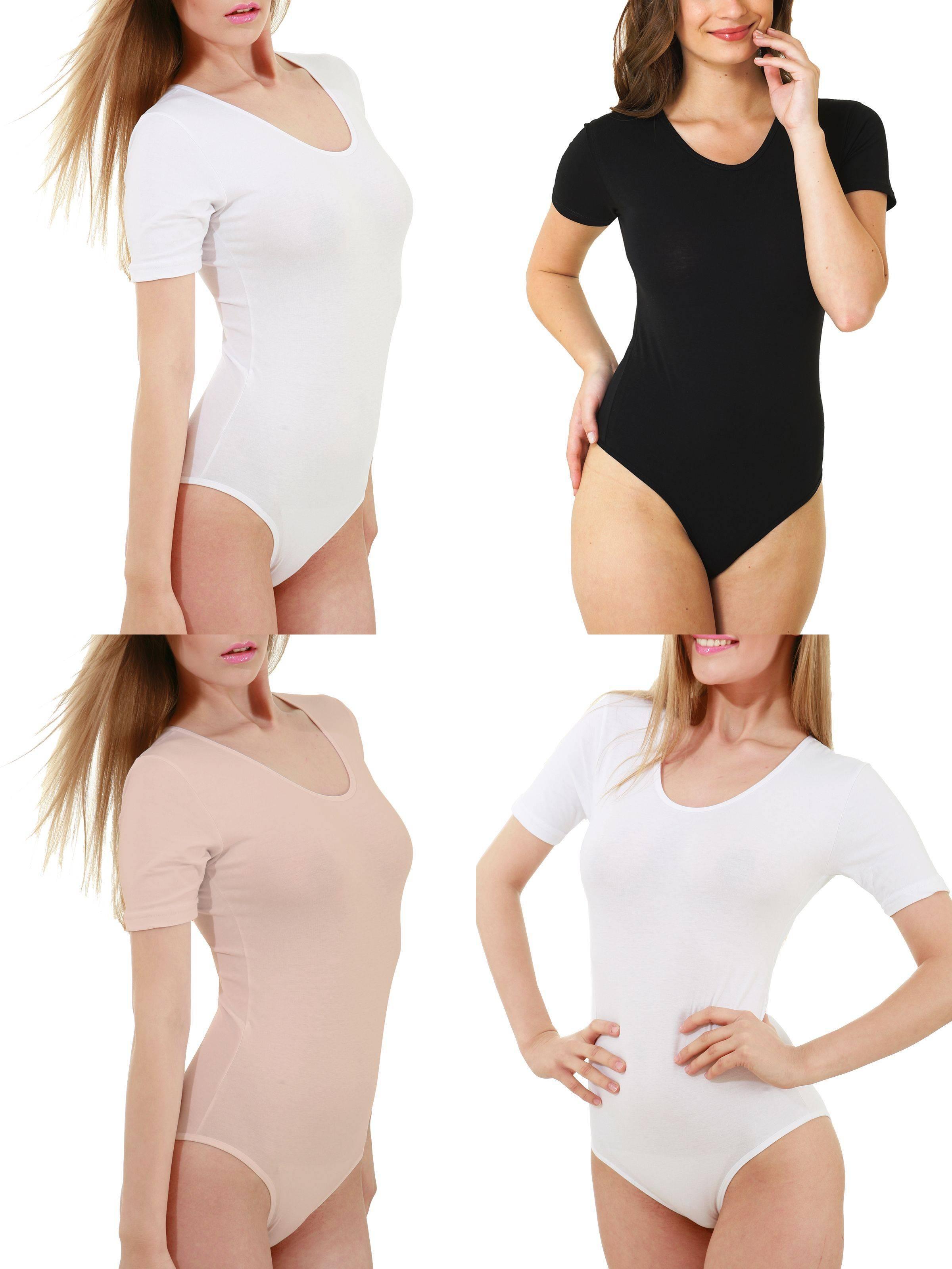 Kefali Body String Damenbody Unterwäsche Stringbody Unterhemd Top Bodies Schwarz