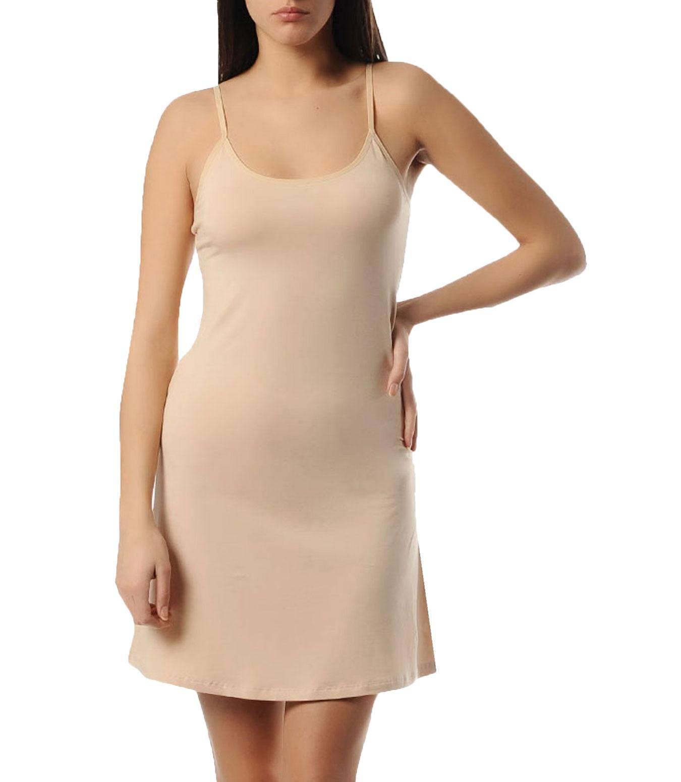 Unterkleid Hemdrock Antistatisch Damen Unterröcke Unterkleidung Beige KC85